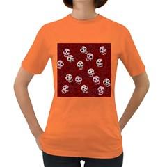 Funny Skull Rosebed Women s Dark T Shirt