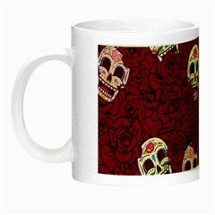 Funny Skull Rosebed Night Luminous Mugs