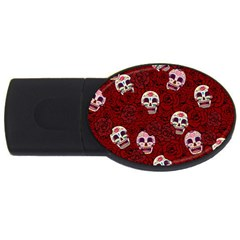 Funny Skull Rosebed Usb Flash Drive Oval (4 Gb)