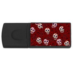 Funny Skull Rosebed Usb Flash Drive Rectangular (4 Gb)