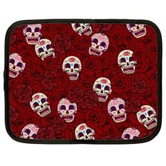 Funny Skull Rosebed Netbook Case (large)