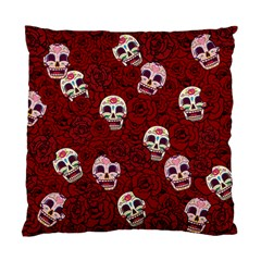 Funny Skull Rosebed Standard Cushion Case (two Sides)
