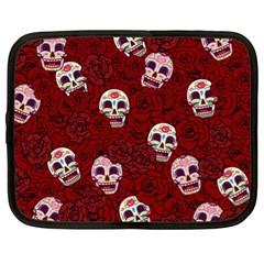 Funny Skull Rosebed Netbook Case (xl)