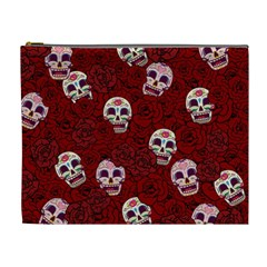 Funny Skull Rosebed Cosmetic Bag (xl)