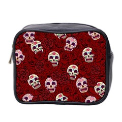 Funny Skull Rosebed Mini Toiletries Bag 2 Side