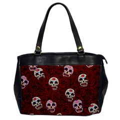 Funny Skull Rosebed Office Handbags by designworld65
