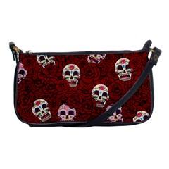 Funny Skull Rosebed Shoulder Clutch Bags