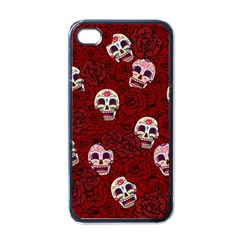 Funny Skull Rosebed Apple Iphone 4 Case (black)