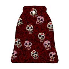 Funny Skull Rosebed Ornament (bell)