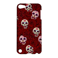 Funny Skull Rosebed Apple Ipod Touch 5 Hardshell Case