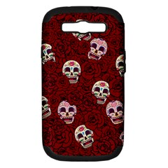 Funny Skull Rosebed Samsung Galaxy S Iii Hardshell Case (pc+silicone)