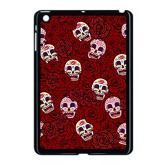 Funny Skull Rosebed Apple Ipad Mini Case (black) by designworld65