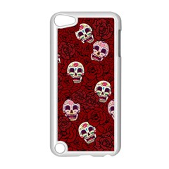 Funny Skull Rosebed Apple Ipod Touch 5 Case (white)