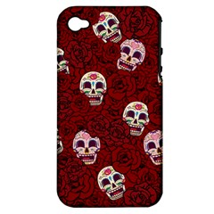 Funny Skull Rosebed Apple Iphone 4/4s Hardshell Case (pc+silicone)