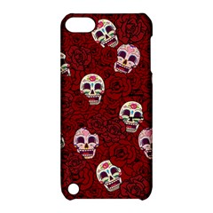 Funny Skull Rosebed Apple Ipod Touch 5 Hardshell Case With Stand