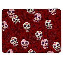Funny Skull Rosebed Samsung Galaxy Tab 7  P1000 Flip Case