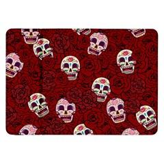 Funny Skull Rosebed Samsung Galaxy Tab 8 9  P7300 Flip Case