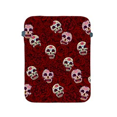Funny Skull Rosebed Apple Ipad 2/3/4 Protective Soft Cases by designworld65