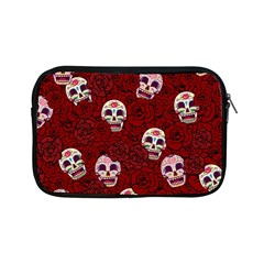 Funny Skull Rosebed Apple Ipad Mini Zipper Cases