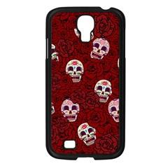 Funny Skull Rosebed Samsung Galaxy S4 I9500/ I9505 Case (black)