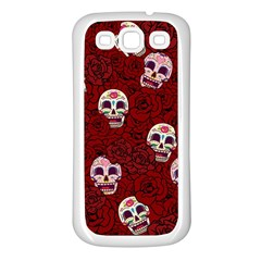 Funny Skull Rosebed Samsung Galaxy S3 Back Case (white)