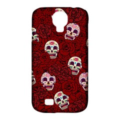 Funny Skull Rosebed Samsung Galaxy S4 Classic Hardshell Case (pc+silicone)