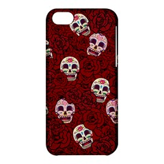 Funny Skull Rosebed Apple Iphone 5c Hardshell Case