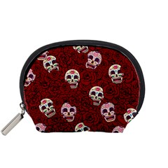 Funny Skull Rosebed Accessory Pouches (small)