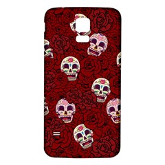 Funny Skull Rosebed Samsung Galaxy S5 Back Case (white)