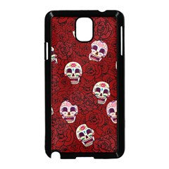 Funny Skull Rosebed Samsung Galaxy Note 3 Neo Hardshell Case (black)