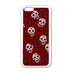 Funny Skull Rosebed Apple Iphone 6/6s White Enamel Case