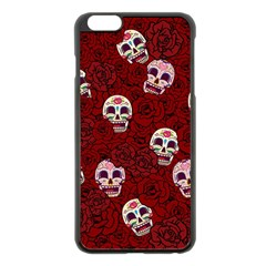 Funny Skull Rosebed Apple Iphone 6 Plus/6s Plus Black Enamel Case