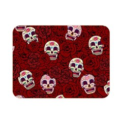 Funny Skull Rosebed Double Sided Flano Blanket (mini)