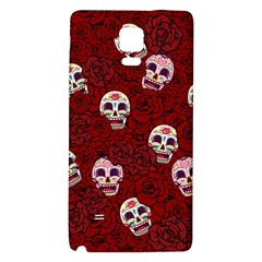 Funny Skull Rosebed Galaxy Note 4 Back Case