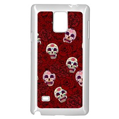 Funny Skull Rosebed Samsung Galaxy Note 4 Case (white)