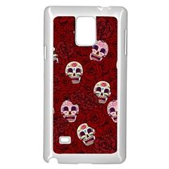 Funny Skull Rosebed Samsung Galaxy Note 4 Case (white) by designworld65