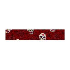 Funny Skull Rosebed Flano Scarf (mini)