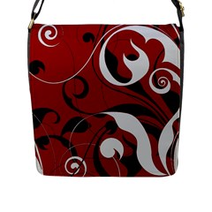 Floral Pattern Flap Messenger Bag (l)  by Valentinaart