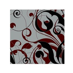 Floral Pattern Small Satin Scarf (square) by Valentinaart