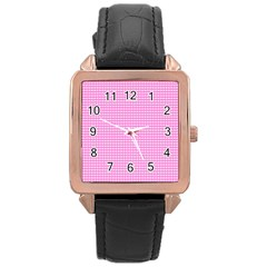Color Rose Gold Leather Watch  by Valentinaart
