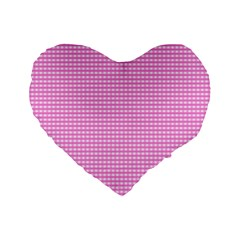Color Standard 16  Premium Flano Heart Shape Cushions by Valentinaart