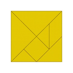 Color Acrylic Tangram Puzzle (4  X 4 ) by Valentinaart