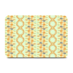 Ethnic Orange Pattern Plate Mats by linceazul