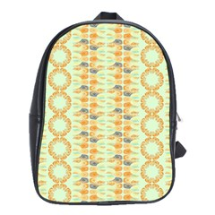 Ethnic Orange Pattern School Bags(large)  by linceazul
