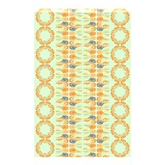 Ethnic Orange Pattern Shower Curtain 48  X 72  (small)  by linceazul