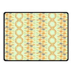 Ethnic Orange Pattern Double Sided Fleece Blanket (small)  by linceazul
