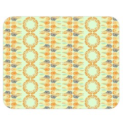 Ethnic Orange Pattern Double Sided Flano Blanket (medium)  by linceazul