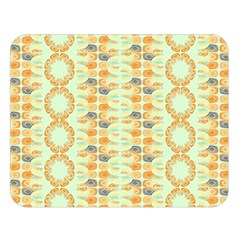 Ethnic Orange Pattern Double Sided Flano Blanket (large)  by linceazul