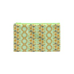 Ethnic Orange Pattern Cosmetic Bag (xs) by linceazul
