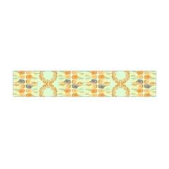 Ethnic Orange Pattern Flano Scarf (mini) by linceazul